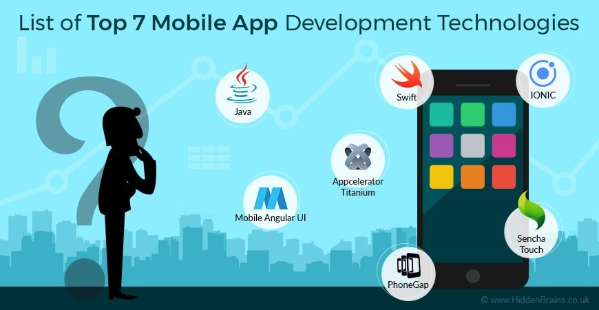 List of Top 7 Mobile App Development Technologies