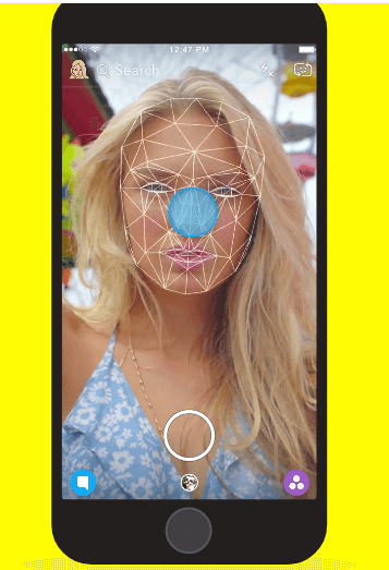 Social Media Apps Using Augmented Reality-Snapchat