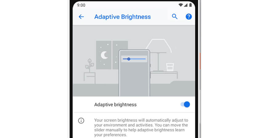 Adaptive birghtness - Android P Features