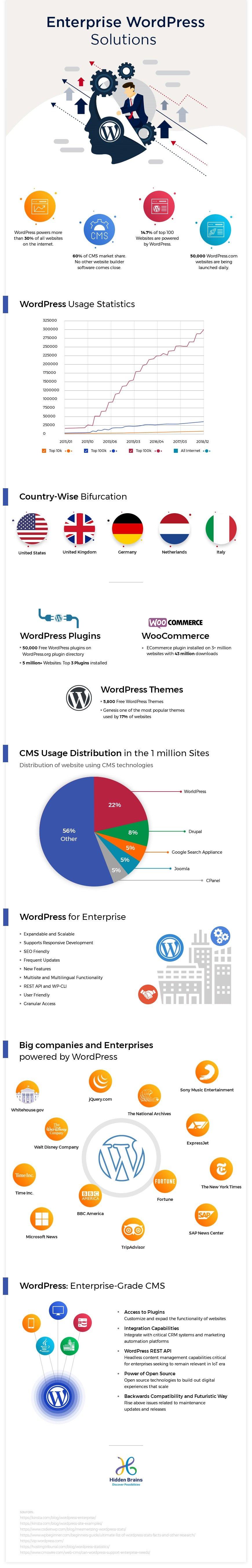 Infographic: WordPress & the Rise in Enterprise World