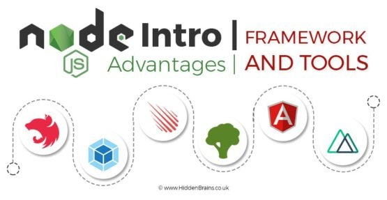 Node.JS : Node.JS Framework and Tools | Advantages - Infographics